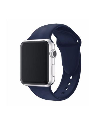 Techmaster Techmaster Apple Watch 2 3 4 5 İÇin 38 40mm ve 42 44mm  Hasır Kordon Lacivert